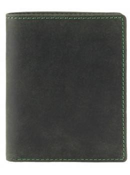Зелёный кожаный кошелек мужской Visconti 705 OIL GRN Arrow