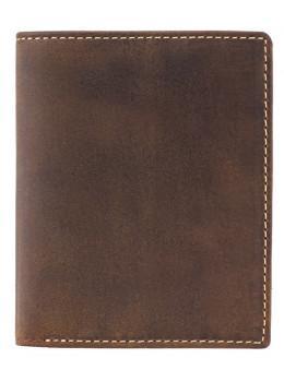 Коричневый кожаный кошелек мужской Visconti 705 OIL TAN Arrow