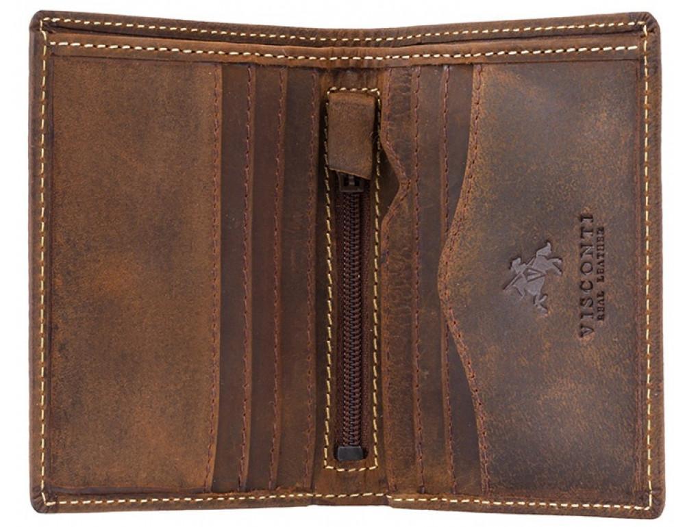Коричневый кожаный кошелек мужской Visconti 705 OIL TAN Arrow - Фото № 2