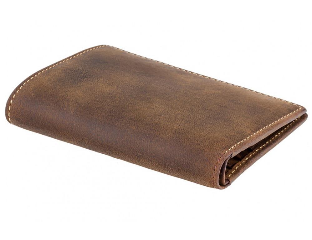Коричневый кожаный кошелек мужской Visconti 705 OIL TAN Arrow - Фото № 3