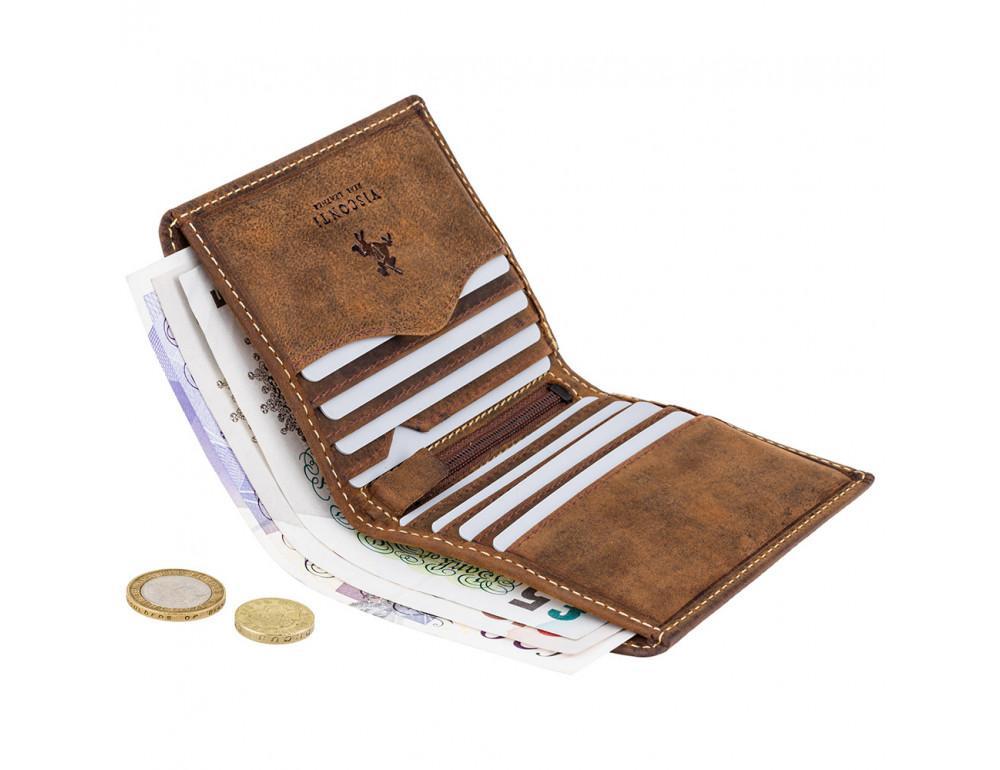 Коричневый кожаный кошелек мужской Visconti 705 OIL TAN Arrow - Фото № 4