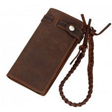 Винтажный мужской кошелек TIDING BAG 8031R коричневый