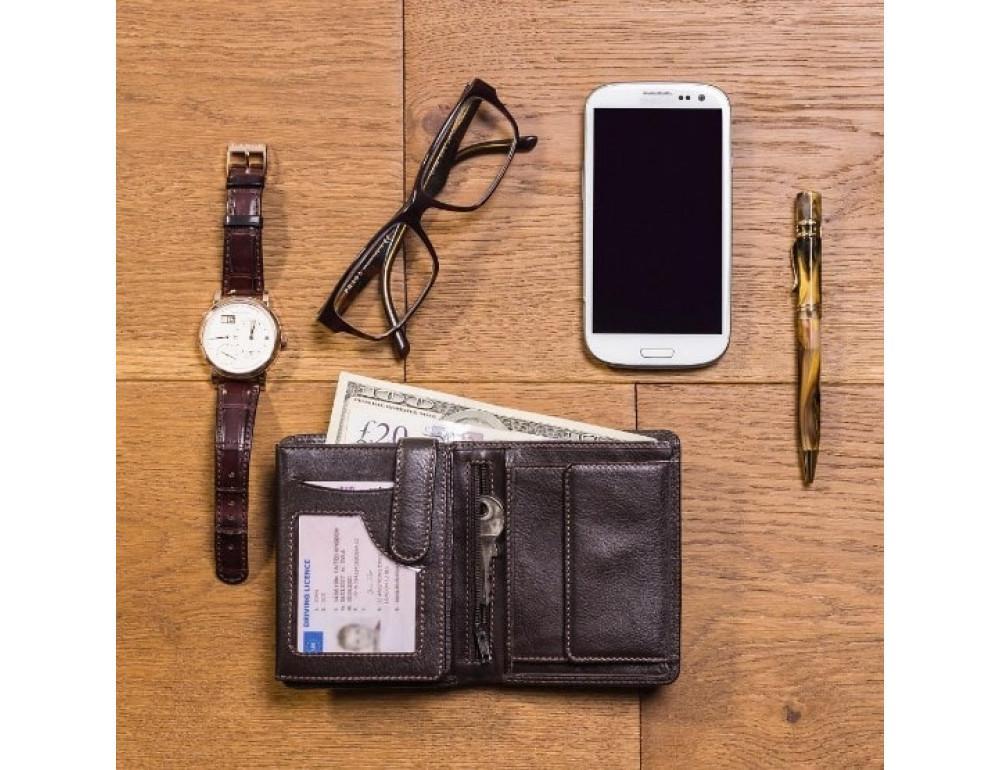 Мужской кошелек Visconti HT11 CHOC коричневый - Фото № 6