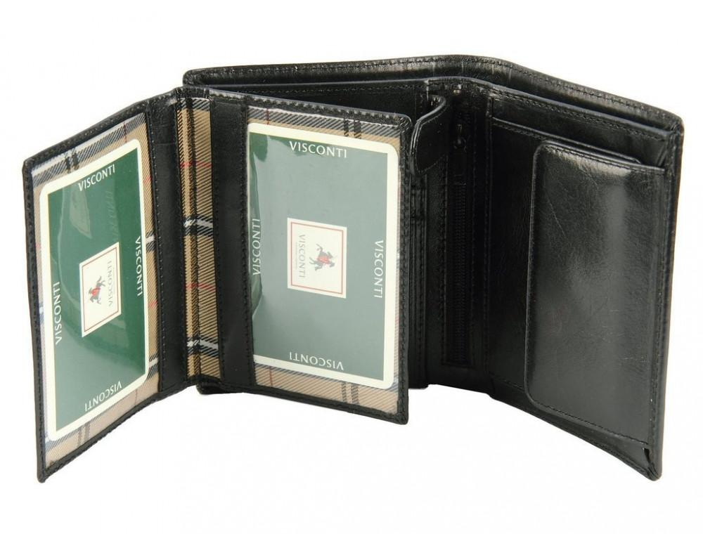 Мужской кожаный кошелек Visconti MZ3 IT BLK - Milan чёрный - Фото № 2