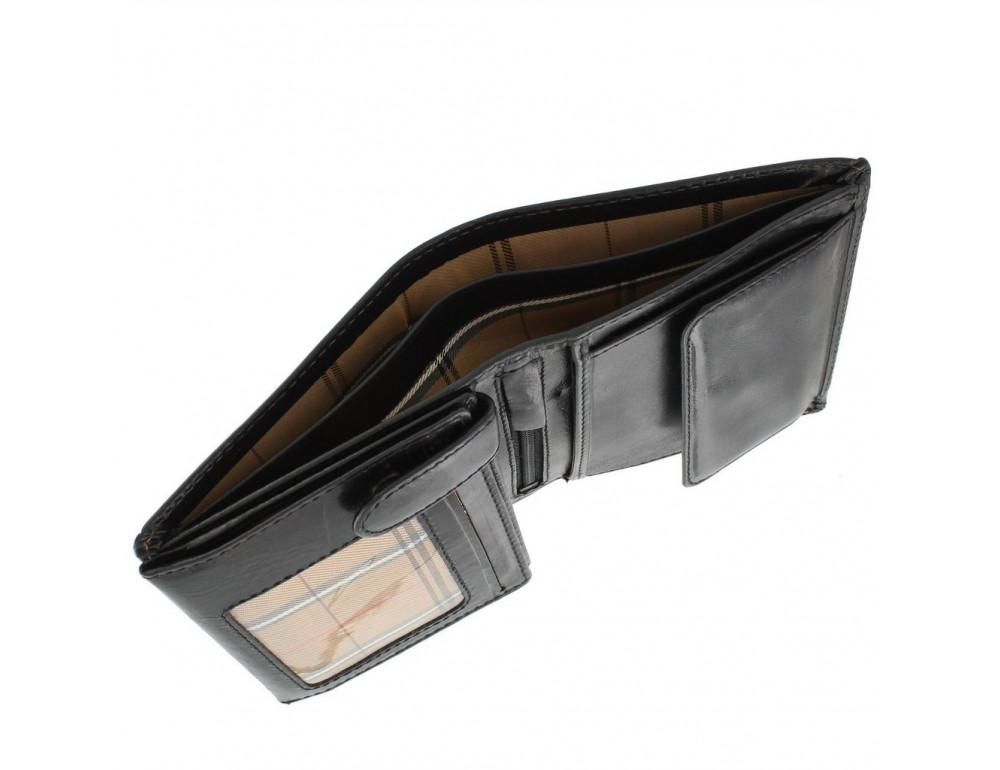 Мужской кожаный кошелек Visconti MZ3 IT BLK - Milan чёрный - Фото № 3