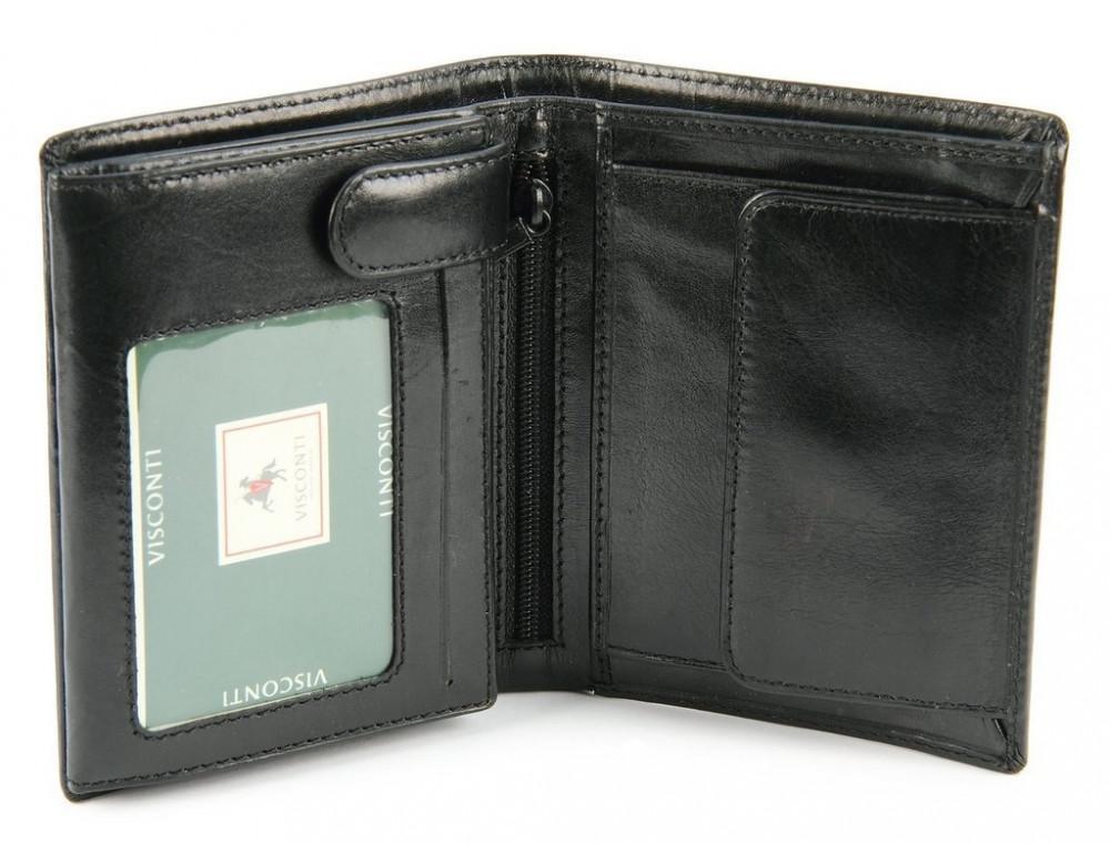 Мужской кожаный кошелек Visconti MZ3 IT BLK - Milan чёрный - Фото № 4