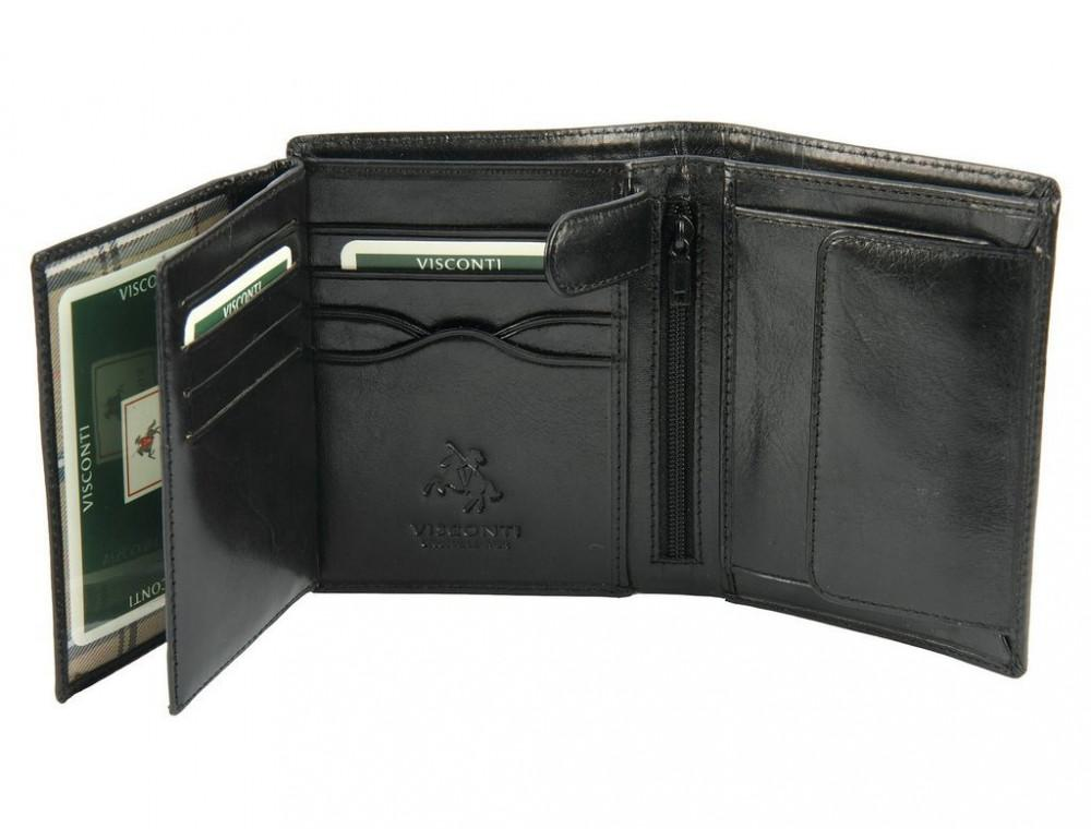 Мужской кожаный кошелек Visconti MZ3 IT BLK - Milan чёрный - Фото № 5