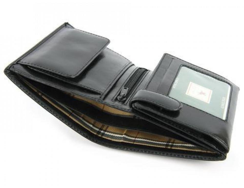 Мужской кожаный кошелек Visconti MZ3 IT BLK - Milan чёрный - Фото № 6