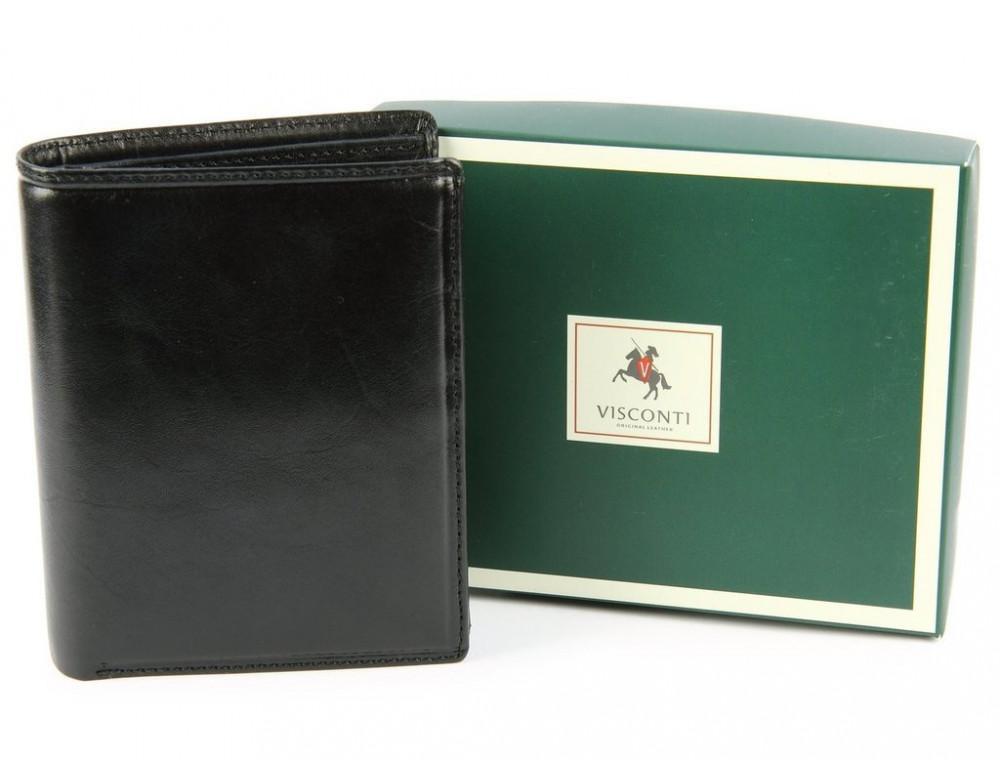 Мужской кожаный кошелек Visconti MZ3 IT BLK - Milan чёрный - Фото № 7