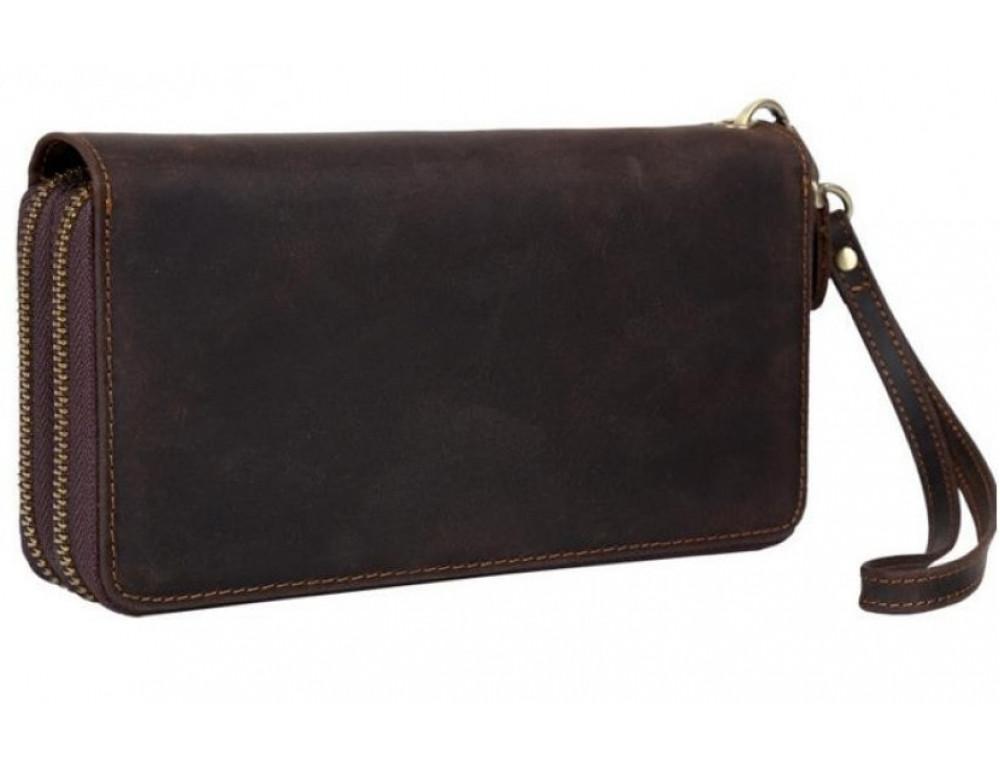 Винтажный клатч TIDING BAG t4009 тёмно-коричневый