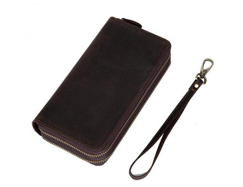 Винтажный клатч TIDING BAG t4009 тёмно-коричневый - Фото № 3