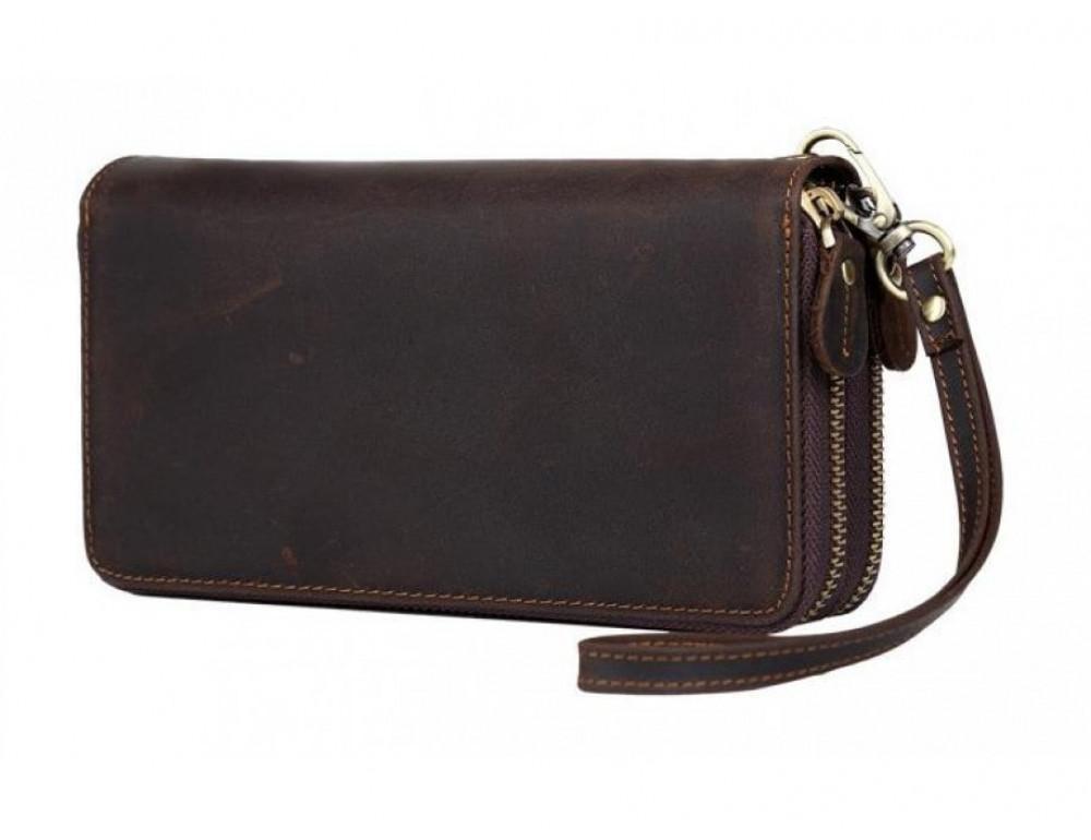 Винтажный клатч TIDING BAG t4009 тёмно-коричневый - Фото № 4