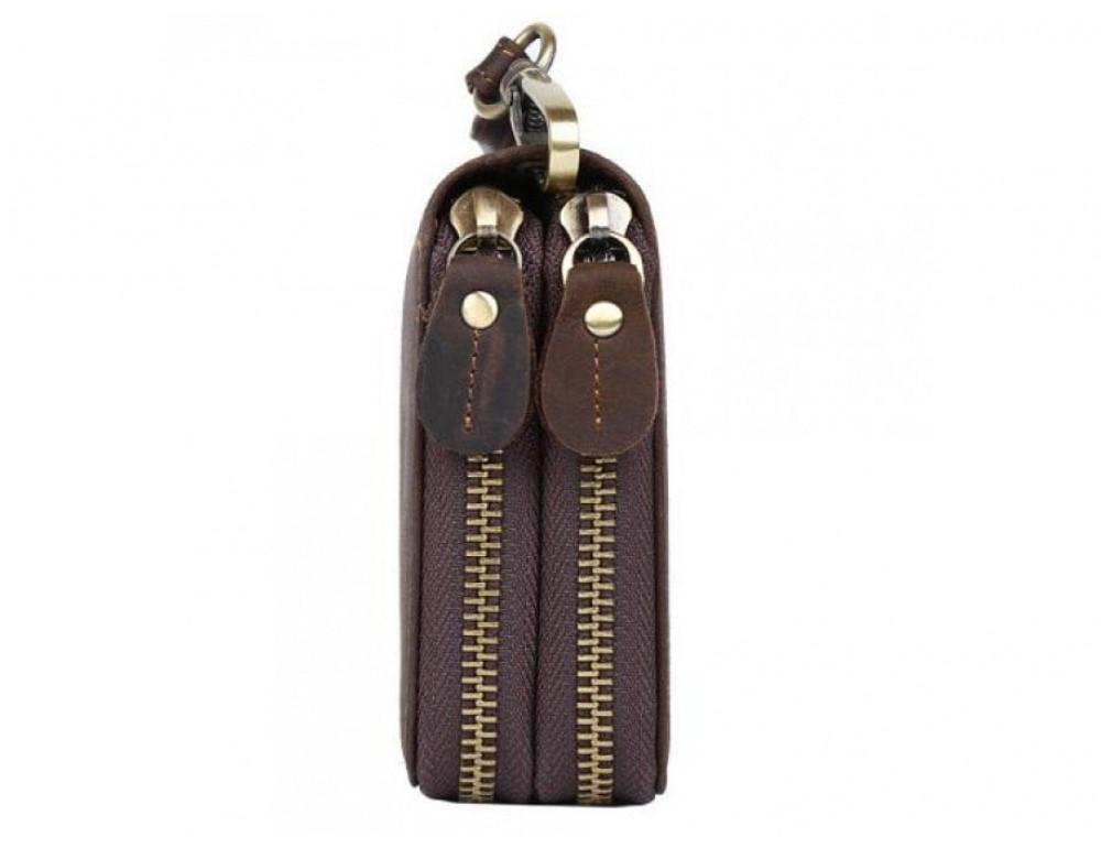Винтажный клатч TIDING BAG t4009 тёмно-коричневый - Фото № 5