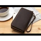 Винтажный клатч TIDING BAG t4009 тёмно-коричневый - Фото № 107