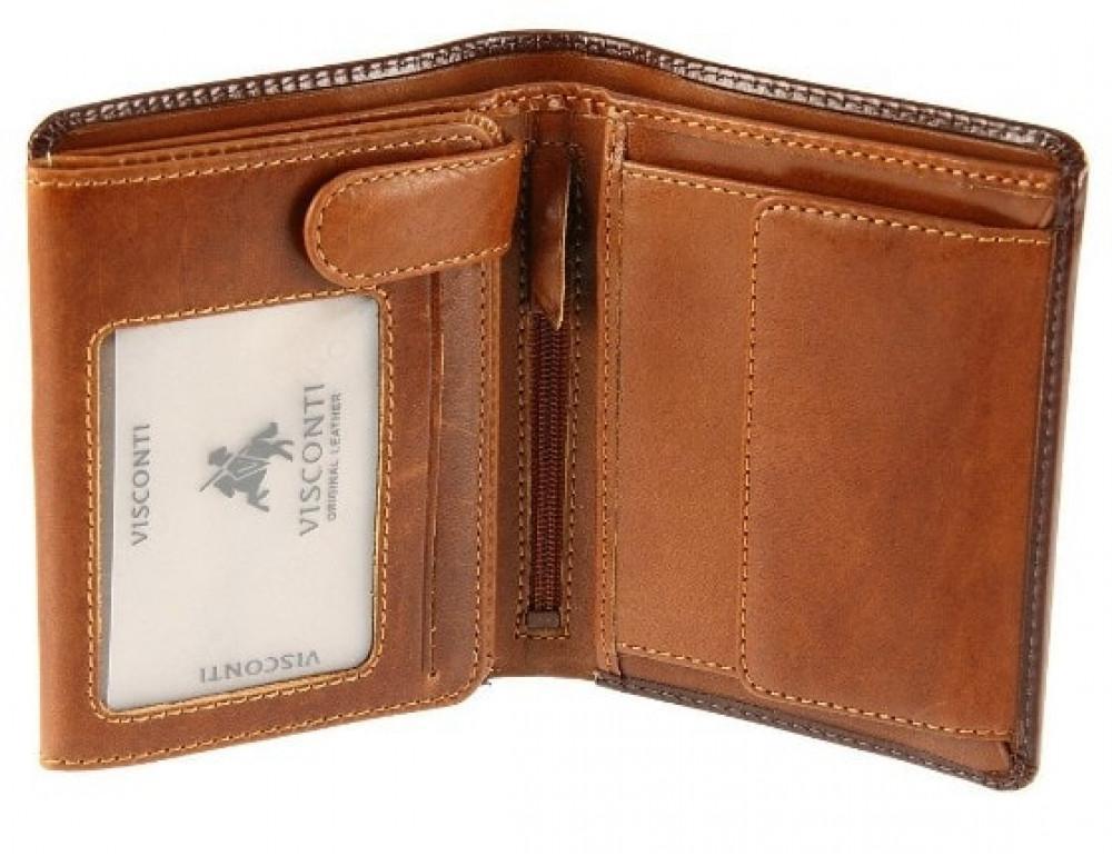 Мужской кожаный кошелек Visconti TR34 BRN/TAN Waldorf  Коричневый - Фото № 2
