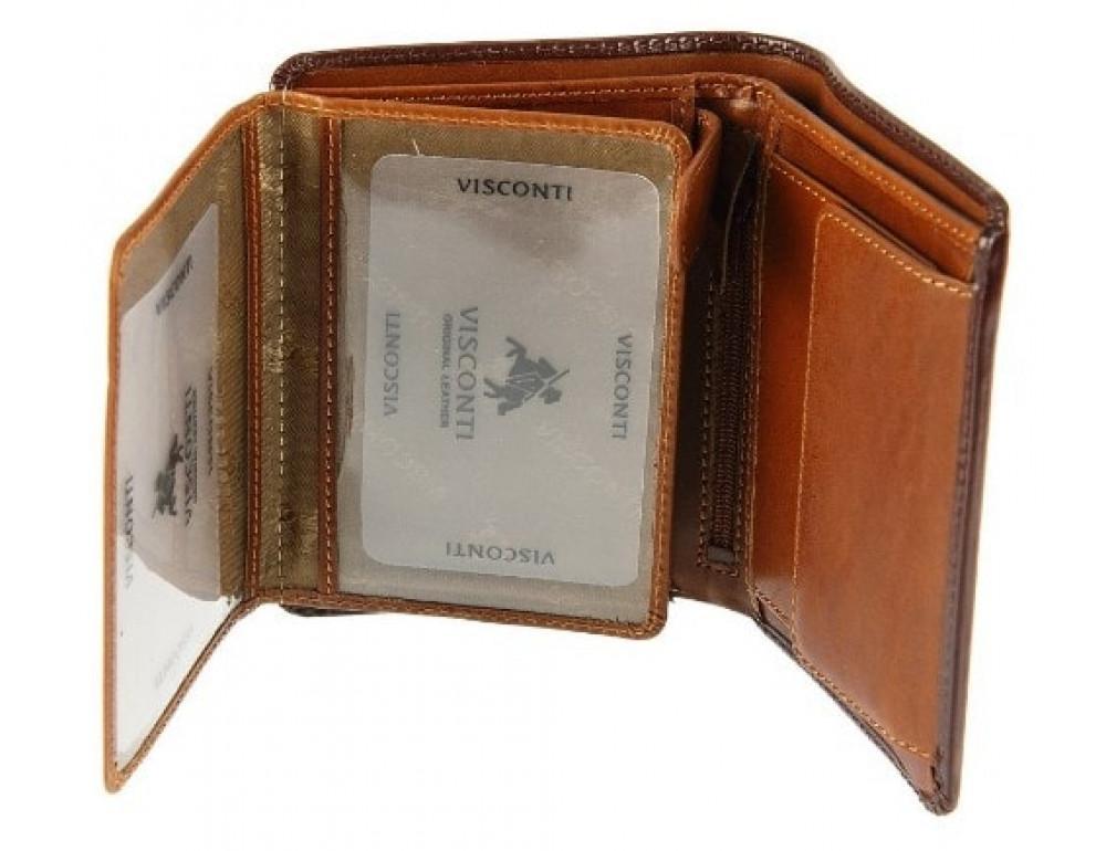 Мужской кожаный кошелек Visconti TR34 BRN/TAN Waldorf  Коричневый - Фото № 3