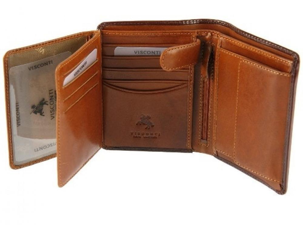 Мужской кожаный кошелек Visconti TR34 BRN/TAN Waldorf  Коричневый - Фото № 4