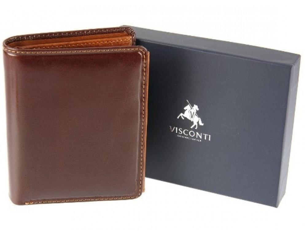 Мужской кожаный кошелек Visconti TR34 BRN/TAN Waldorf  Коричневый - Фото № 7