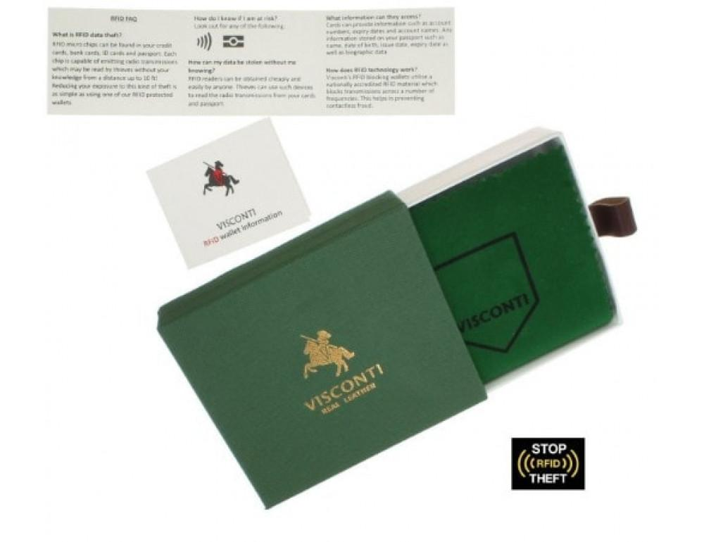 Мужской кожаный кошелек Visconti TSC42 Arezzo коричневый - Фото № 5