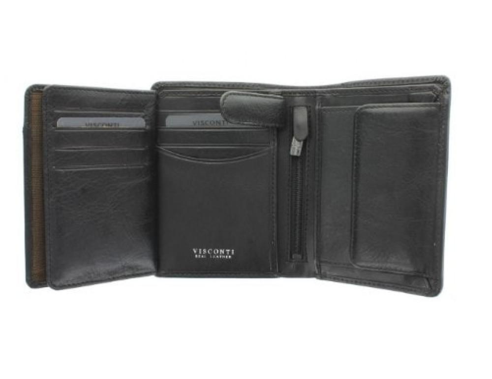 Мужской кожаный кошелек Visconti TSC44 Lucca чёрный - Фото № 4