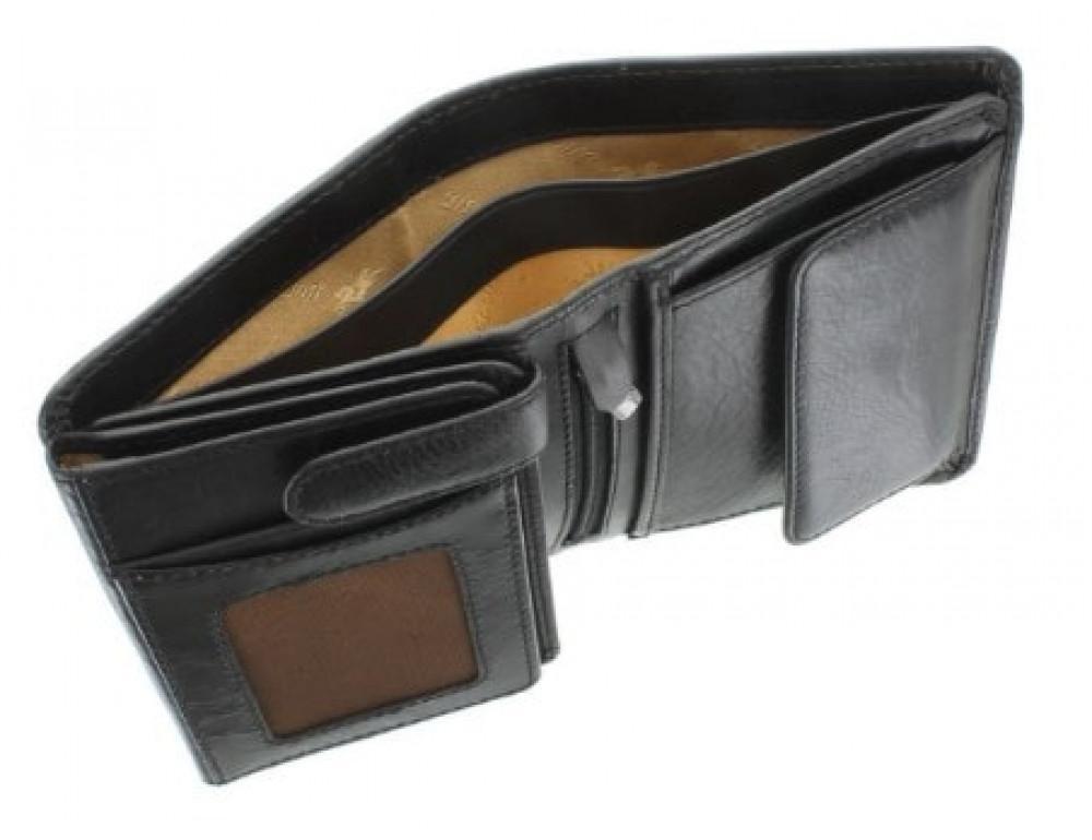 Мужской кожаный кошелек Visconti TSC44 Lucca чёрный - Фото № 5