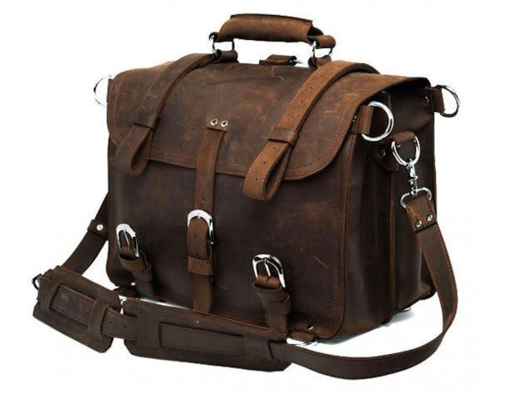 Большая сумка трасформер из лошадиной кожи Jasper Maine 7072R - Фото № 1
