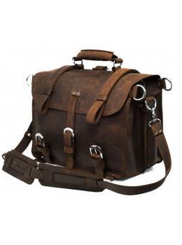 Большая сумка трасформер из лошадиной кожи Jasper Maine 7072R