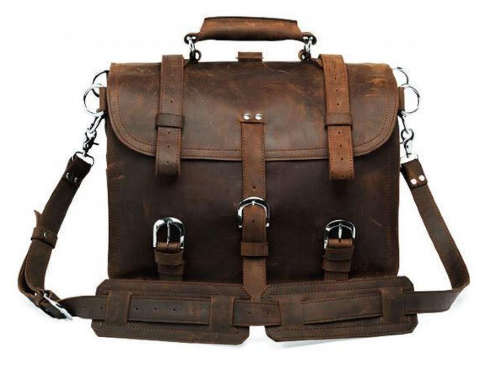 Большая сумка трасформер из лошадиной кожи Jasper Maine 7072R - Фото № 2