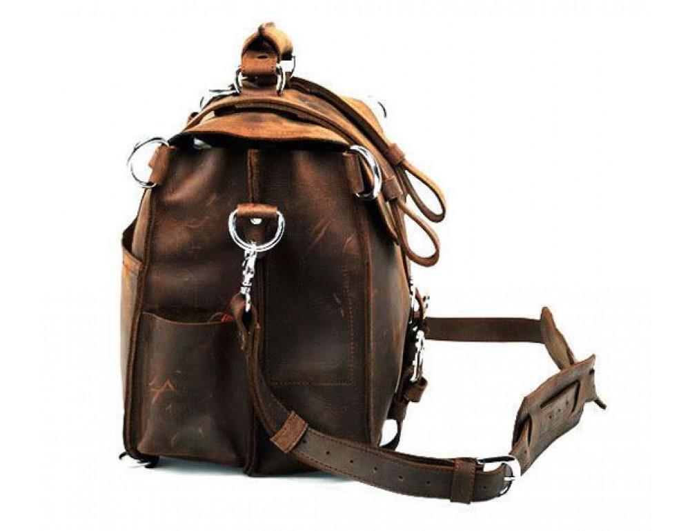 Большая сумка трасформер из лошадиной кожи Jasper Maine 7072R - Фото № 4