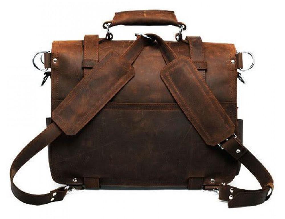 Большая сумка трасформер из лошадиной кожи Jasper Maine 7072R - Фото № 5