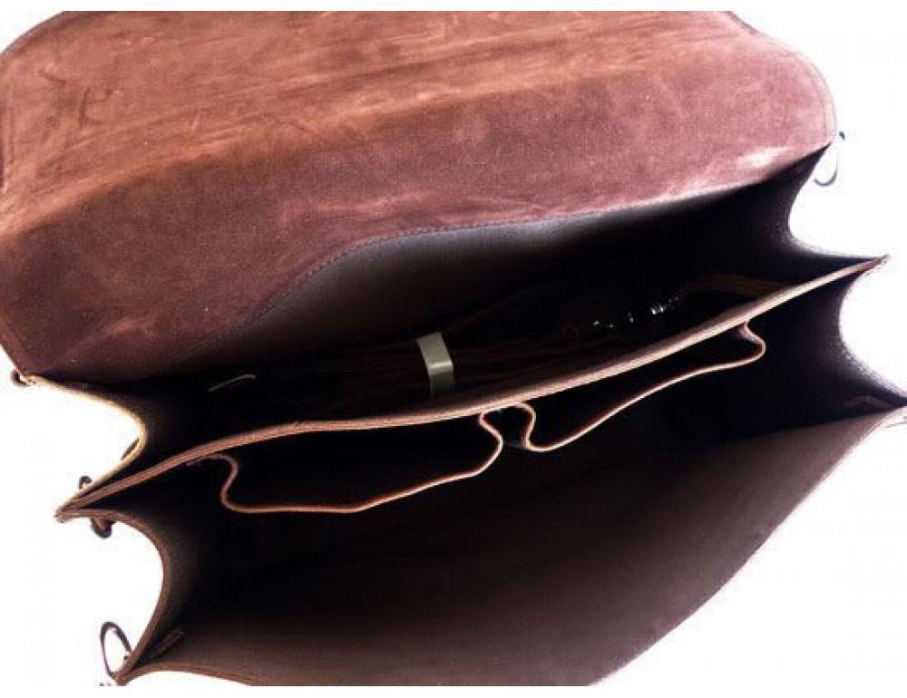 Большая сумка трасформер из лошадиной кожи Jasper Maine 7072R - Фото № 6
