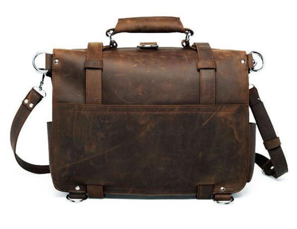 Большая сумка трасформер из лошадиной кожи Jasper Maine 7072R - Фото № 7