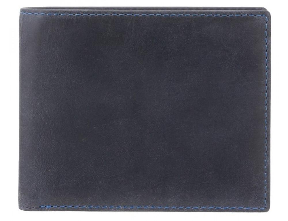 Синий кожаный кошелек мужской Visconti 707 OIL BLUE Shield - Фото № 1