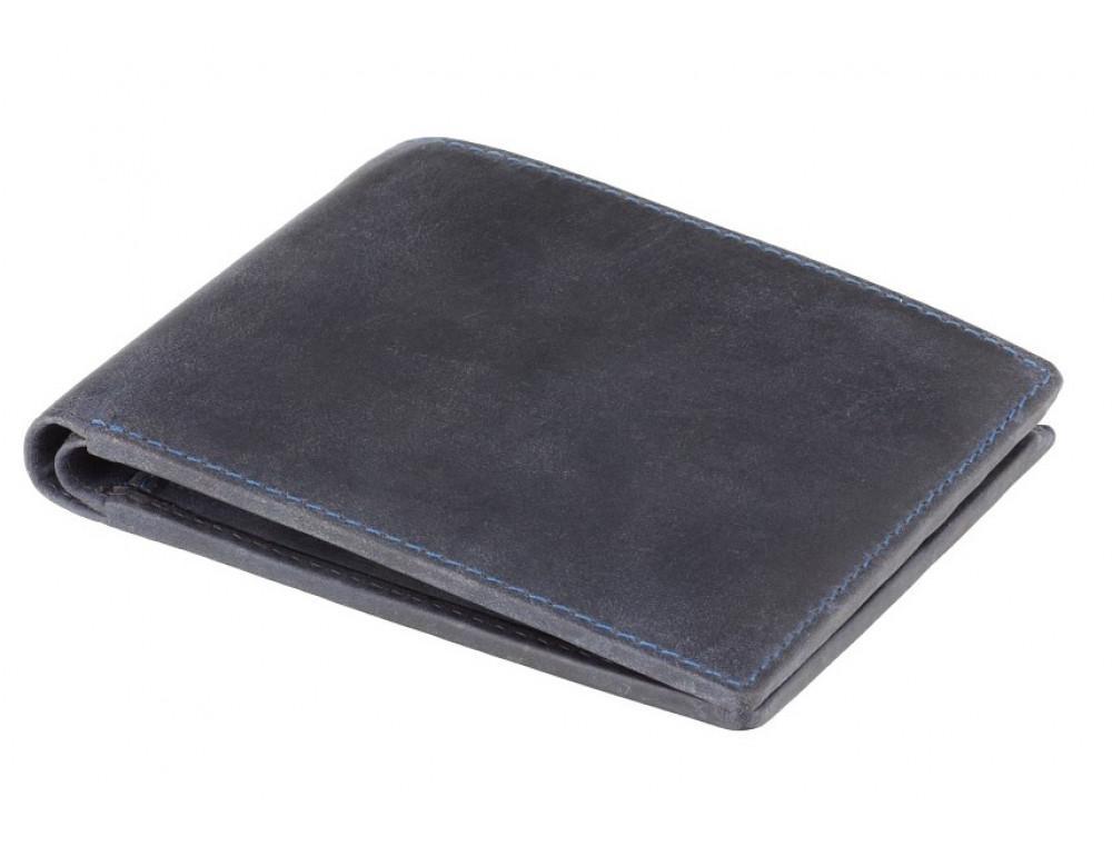 Синий кожаный кошелек мужской Visconti 707 OIL BLUE Shield - Фото № 3