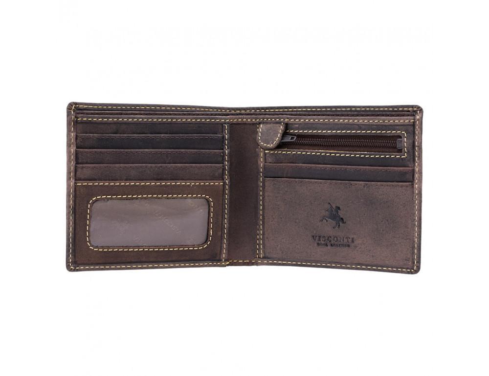 Мужской кожаный кошелек Visconti 707 коричневый - Фото № 2