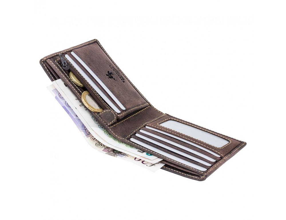 Мужской кожаный кошелек Visconti 707 коричневый - Фото № 3
