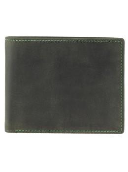 Зелёный кожаный кошелек мужской Visconti 707 OIL GRN Shield