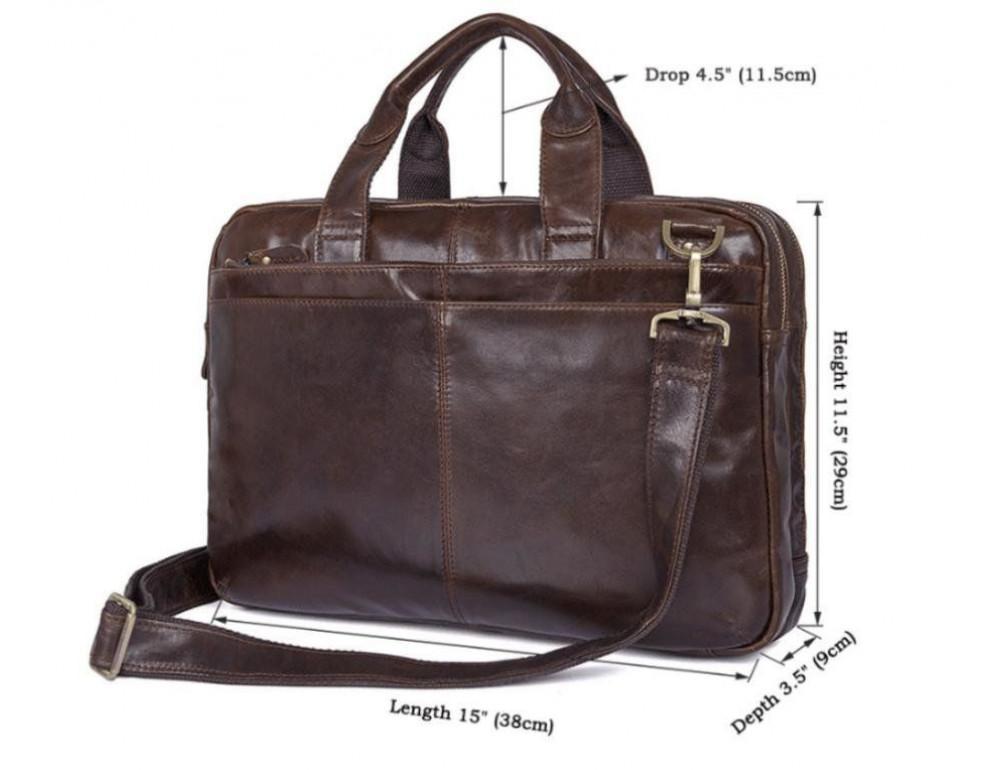 Шкіряна сумка через плече TIDING BAG 7092-3C - Фотографія № 3
