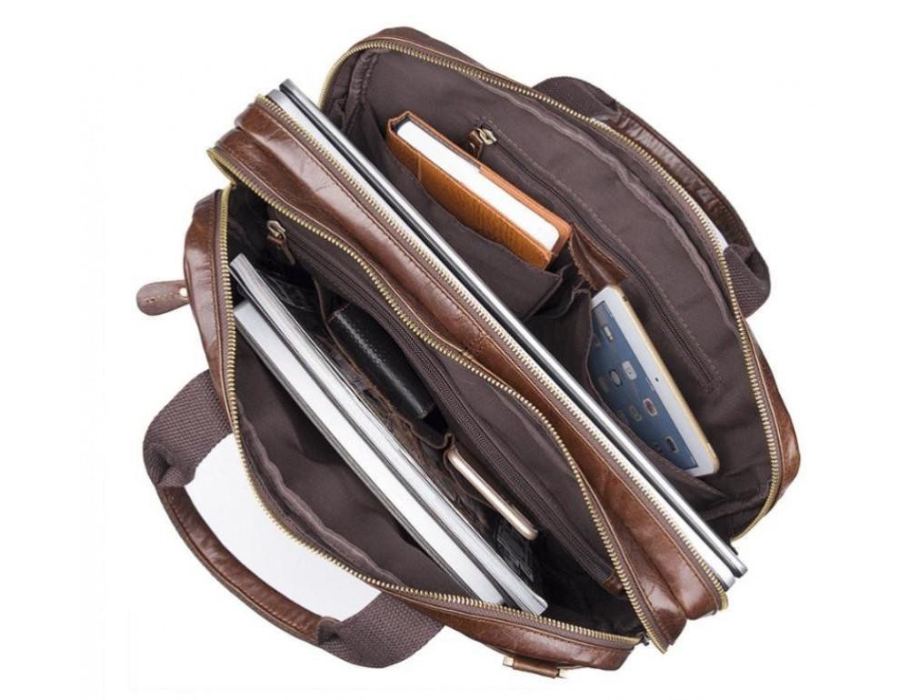 Шкіряна сумка через плече TIDING BAG 7092-3C - Фотографія № 6