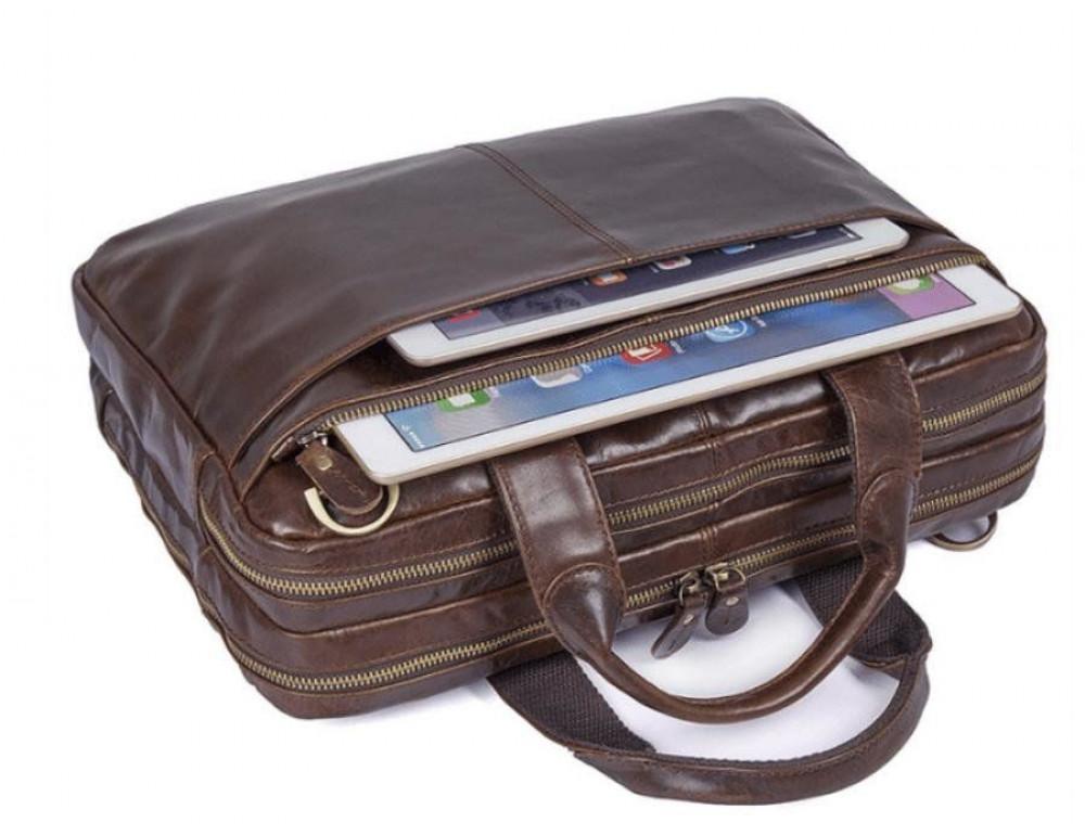 Шкіряна сумка через плече TIDING BAG 7092-3C - Фотографія № 7