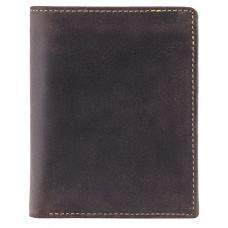 Тёмно-коричневый мужской кошелёк под документы Visconti 709 OIL BRN Rifle