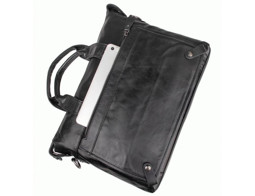 Кожаная сумка для ноутбука JASPER & MAINE 7120A - Фото № 4
