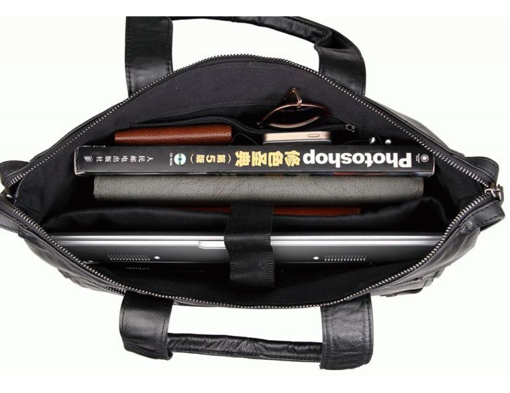 Кожаная сумка для ноутбука JASPER & MAINE 7120A - Фото № 9