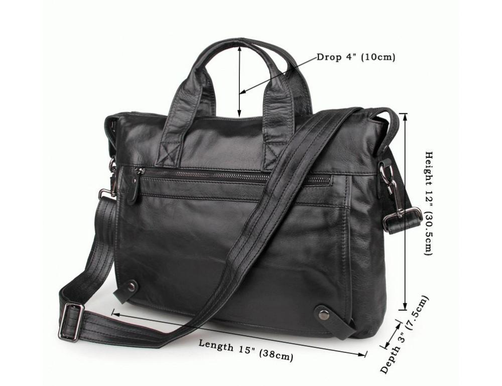 Кожаная сумка для ноутбука JASPER & MAINE 7120A - Фото № 10