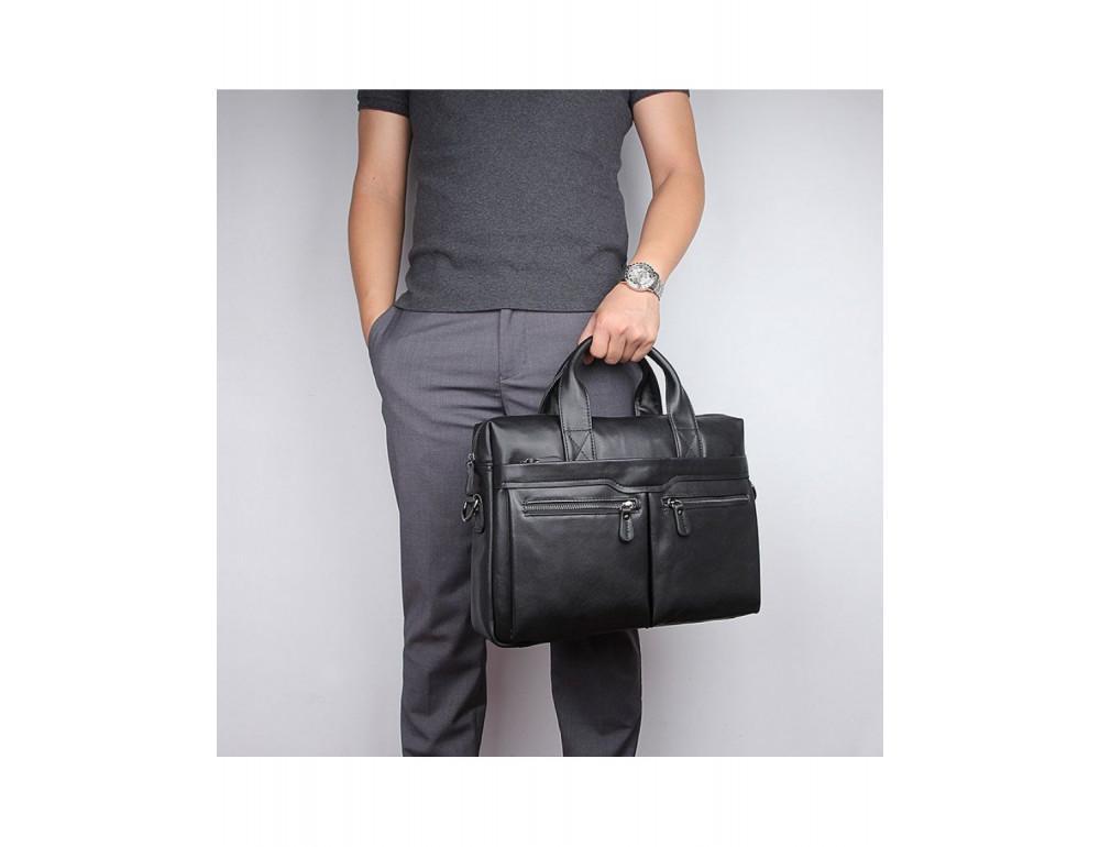 Кожаная сумка для ноутбука JASPER & MAINE 7122A-1 - Фото № 2