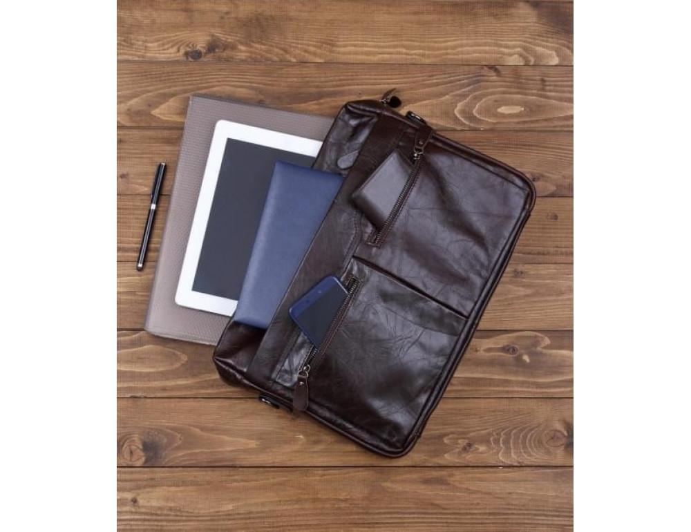 Кожаная сумка для ноутбука JASPER & MAINE 7122C - Фото № 7