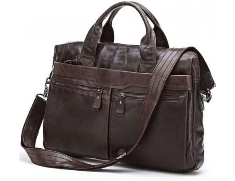 Кожаная сумка для ноутбука JASPER & MAINE 7122C - Фото № 1