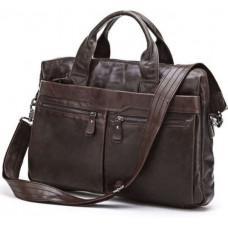 Кожаная сумка для ноутбука JASPER & MAINE 7122C