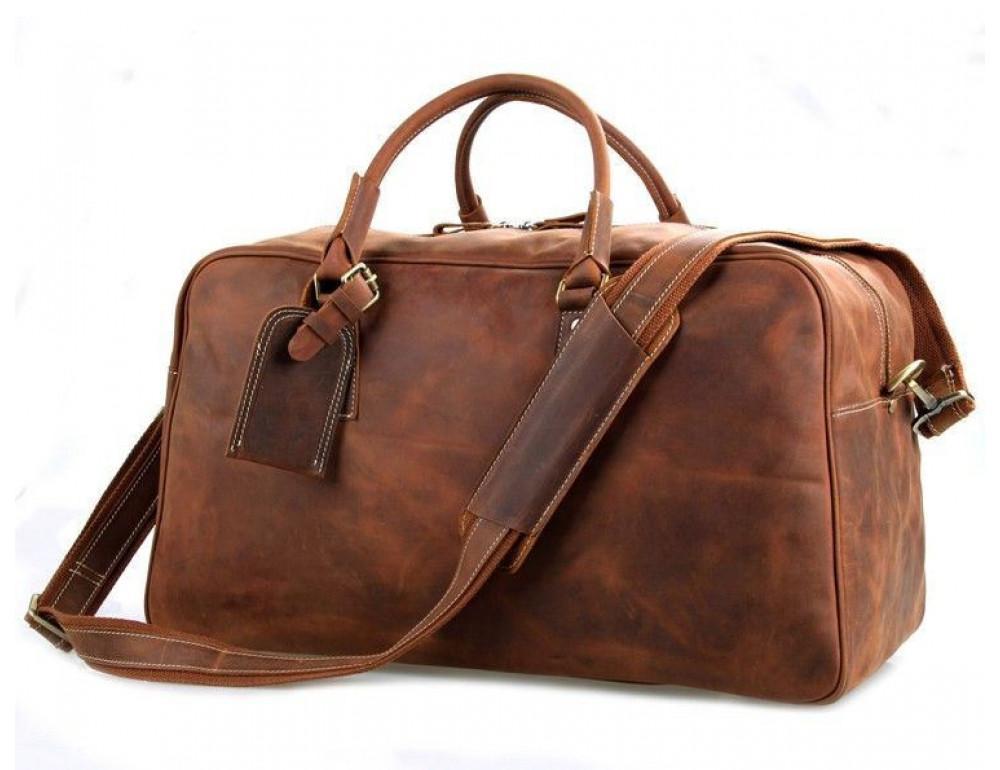 Большая винтажная сумка для путешествий Jasper Maine 7156LR - Фото № 1