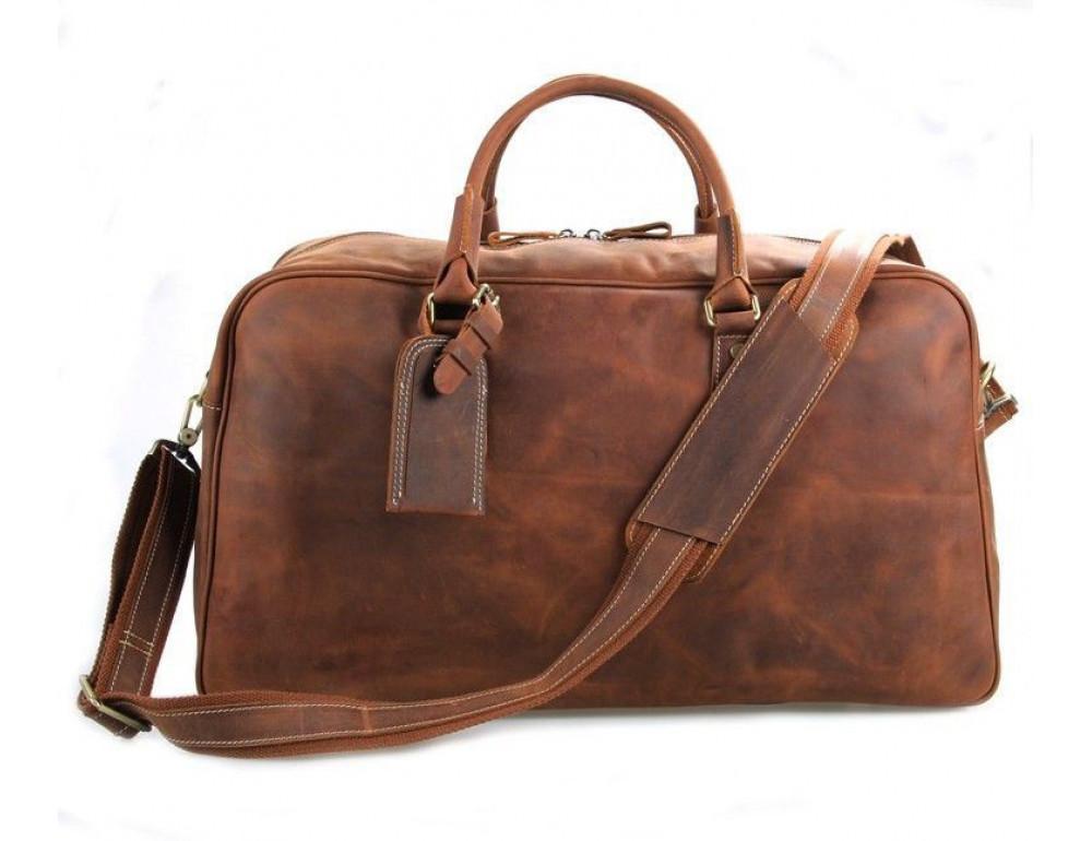 Большая винтажная сумка для путешествий Jasper Maine 7156LR - Фото № 2